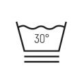 Waschen bei 30° sehr schonend